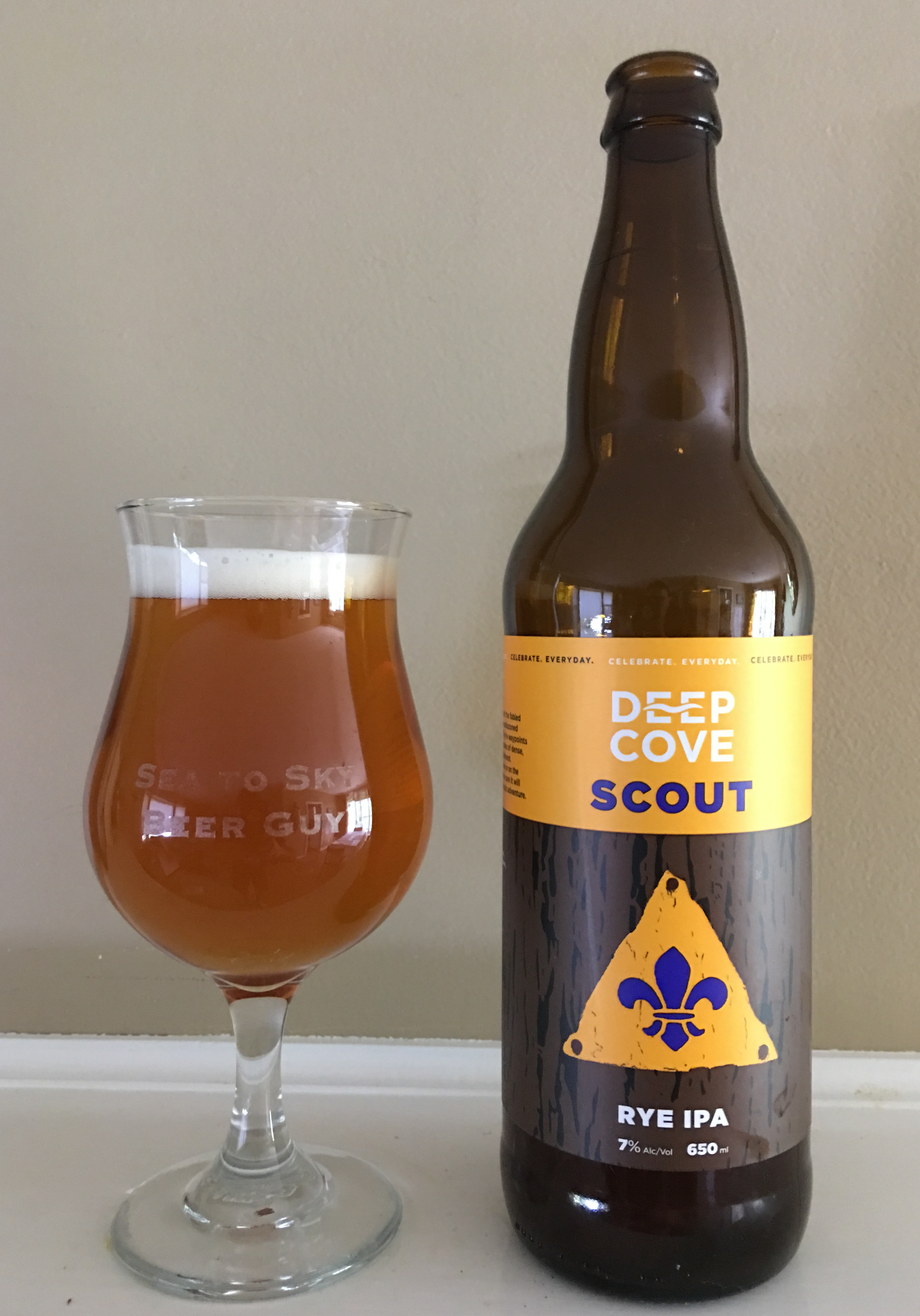 Scout, a Rye IPA by Deep Cove