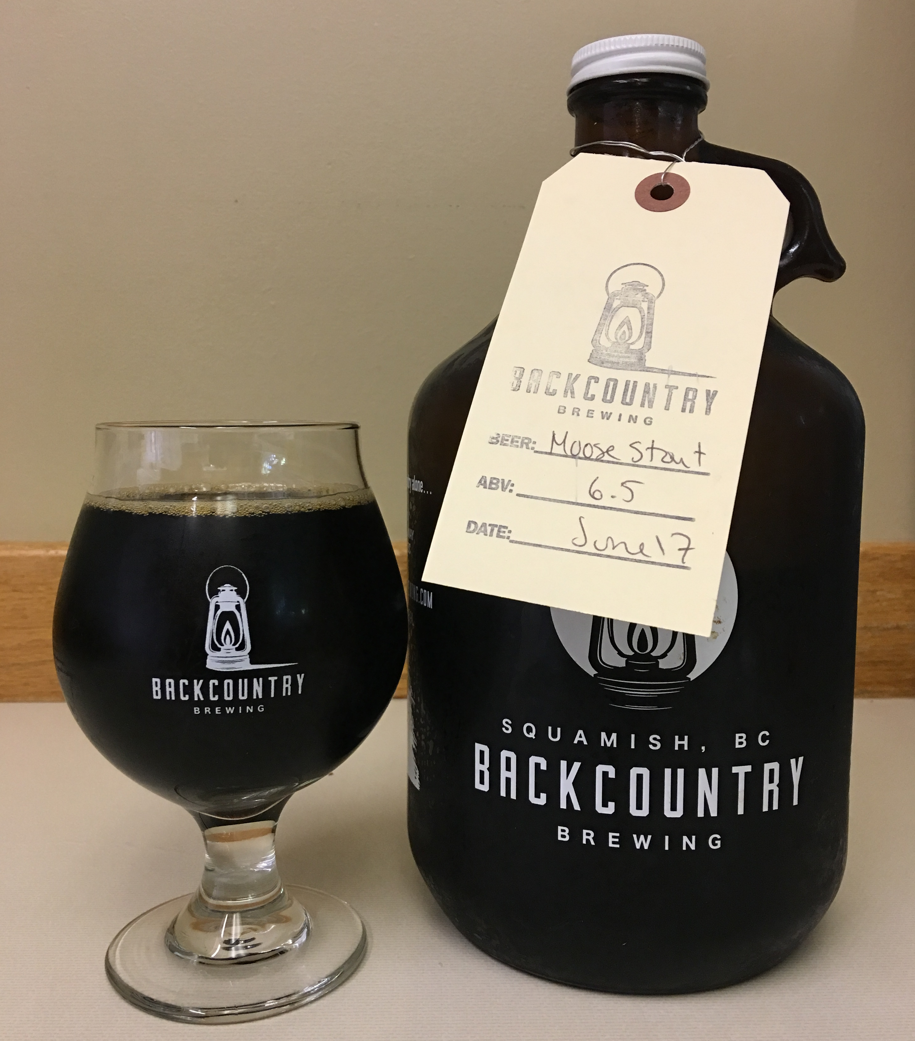 Dark Side of the Moose, a coffee milk stout by Backcountry Brewing